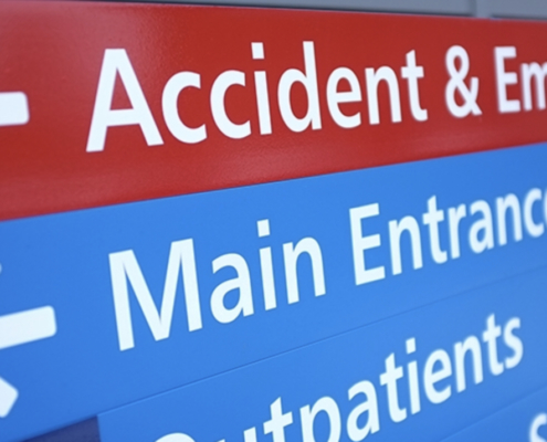A&E in NHS hospital